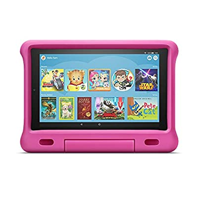 """All-New Fire HD 10 Kids Edition Tablet – 10.1"""" 1080p full HD display, 32 GB, Pink Kid-Proof Case"""