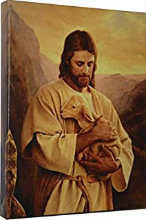 Lost Lamb by Del Parson Giclee Canvas Wrap Picture of Jesus Holding Lost Lamb