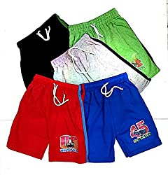 Light Gear Unisex (1 to 8 Years) Bermuda/Boxer Shorts Pack of 5