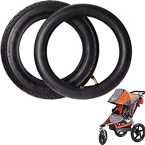 Wadoy 12.5 x 2.25 Inner Tube and 12.5'' x 1.75/2.15 Front Wheel Compatible with Bob Revolution Se Pro Flex Jogging Duallie Stroller Replacement Front Wheel