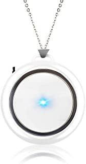 Necklace Air Purifier Anion Filter Air Cleaner for Car Home Rechargeable Suitable for Travel Driving Home Public Places (W...