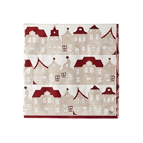 Hutschenreuther - Little Christmastown - Servietten - Motiv: Häuser 33 x 33 cm 20 Stück