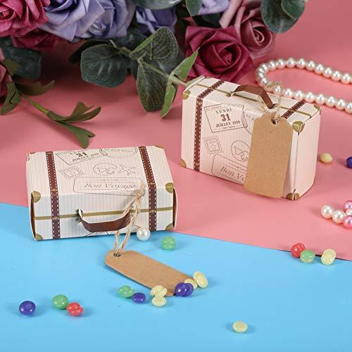 01 Mini Caja del Caramelo de la Mini Maleta novedosa, Caja del Caramelo, Cajas del Caramelo 50pcs / Set para el Banquete de Boda
