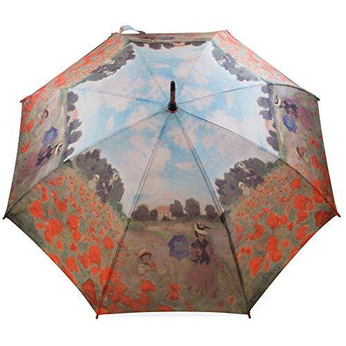 Regenschirm Stockschirm Kunst Claude Monet Mohnfeld