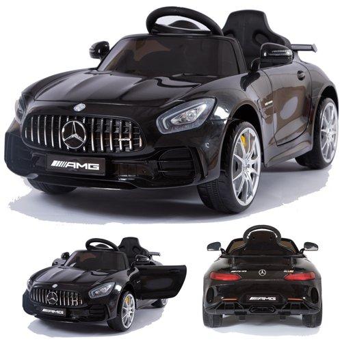 crooza Mercedes-Benz GT-R GTR SoftStart Kinderauto Kinderfahrzeug Kinder Elektroauto (schwarz)