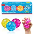Power Your Fun Arggh Mini Stress Balls for Adults and Kids - 3pk Squishy Stress Ball Fidget Toys, Anti Stress Sensory Ball Squeeze Toys (Yellow, Pink, Blue)