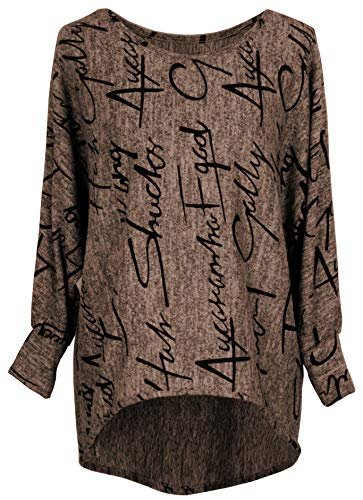 Emma & Giovanni - Pullover/Sweatshirt Oversize- Damen (XL, Braun)