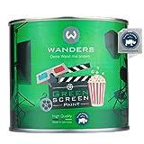 Wanders® 500ml Greenscreen Farbe - außergewöhnlich matte Green Screen Farbe ungiftig - professioneller Fotohintergrund - Made in Germany