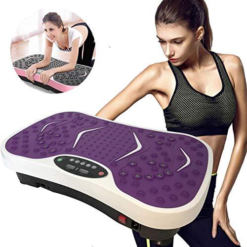 Ayanx Gewichtsverlust Gym Equipment Übungsplatte, Body Building Vibrationsmaschine, Crazy Fit Massage, weiß