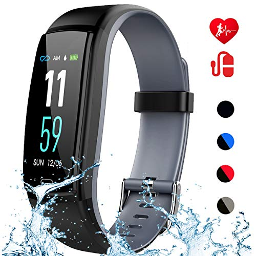 Mgaolo Fitness Tracker with Blood Pressure Heart Rate Sleep Monitor,IP68 Waterproof Activity Tracker Smart Watch with Pedometer Calorie Step Counter Compatible with iPhone and Android Phones (Gray)