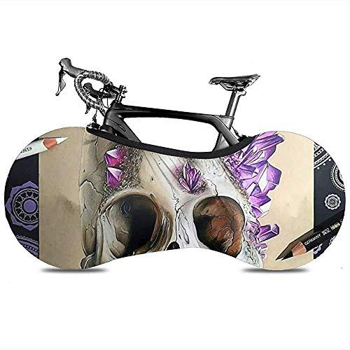 LisaArticles Fiets Wiel Cover,Bloem Suiker Schedel Potlood Diamant Unieke Bike Covers Voor Fiets Fiets Racefiets