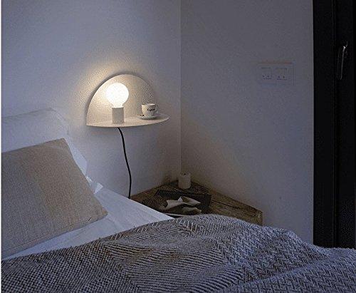 YU-K Moderne Wandleuchte Bügeleisen Wandleuchten eingebauter Regalwand Licht ist ideal für Bar Restaurant Cafe Club eingerichteten Wohnzimmer Schlafzimmer Flur balkon Geschäfte Weiß