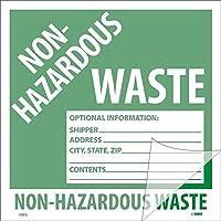 National Marker Corp. HW5SL100 Self-Laminating Labels Non-Hazardous Waste 6 Inch X 6 Inch PS Vinyl Bx100 [並行輸入品]