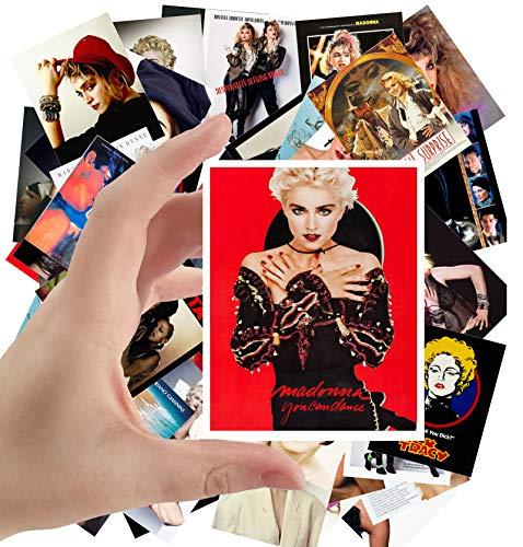 Large Stickers (24pcs 2.5'x3.5') MADONNA Posters Photos Vintage Magazine covers Pop Music