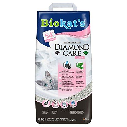 Biokat's Diamond Care Fresh. Arena aglomerante de grano fino con perfume 8 lit