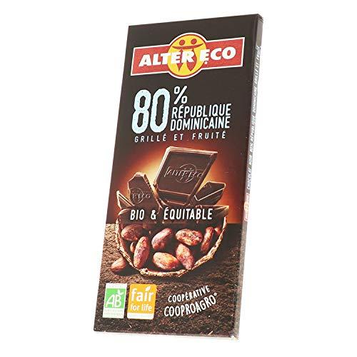 Alter Eco Chocolat Noir 80% Bio & Équitable – Grillé & Fruité – 100 g