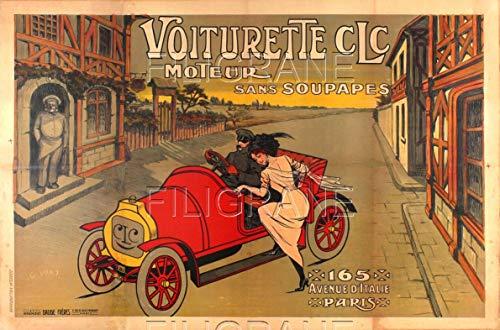 PostersAndCo TM CLC Autoposter/Reproduktion 50 x 70 cm (auf Papier 60 x 80 cm) d1 Poster Vintage/Retro