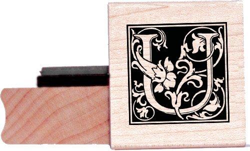 Tampon en caoutchouc alphabet - Lettre U à la William Morris