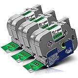 3x Labelwell Tzc-761 36mm Kompatibel Schriftband Ersatz für Brother Tz TZe-761 TZe761 Schwarz auf Grün für Brother P-touch RL-700S PT-530 550 P950NW P900W E850T PT-3600 9500PC 9600 Beschriftungsgerät