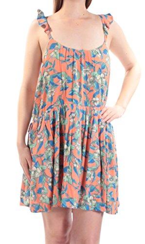 Free People Womens Dear You Floral Print Sleeveless Sundress Orange Combo Medium