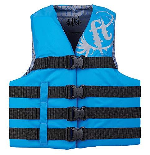 Full Throttle 112200-500-110-19 Infant, Child, Youth & Adult Nylon Water Sports Vest - Blue, 4XL/7XL