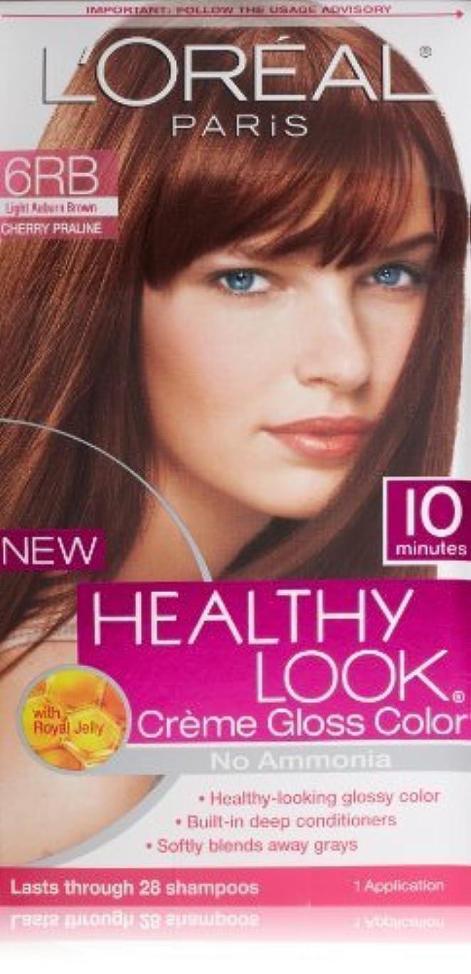 悲観主義者カメフィールドL'Oreal Healthy Look Creme Gloss Hair Color, 6RB Dark Red Brown/Cherry Chocolate by L'Oreal Paris Hair Color [並行輸入品]