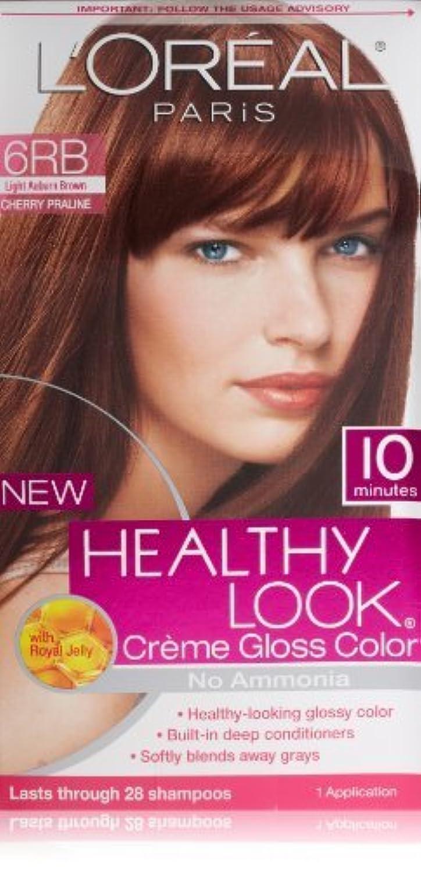 スペイン挨拶する対人L'Oreal Healthy Look Creme Gloss Hair Color, 6RB Dark Red Brown/Cherry Chocolate by L'Oreal Paris Hair Color [並行輸入品]
