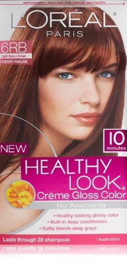 ネックレットステレオタイプ追い払うL'Oreal Healthy Look Creme Gloss Hair Color, 6RB Dark Red Brown/Cherry Chocolate by L'Oreal Paris Hair Color [並行輸入品]