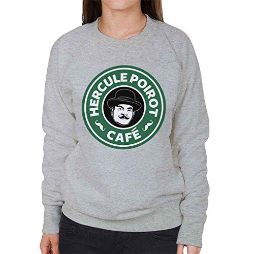 Coto7 Hercule Poirot Cafe Starbucks Logo Women's Sweatshirt