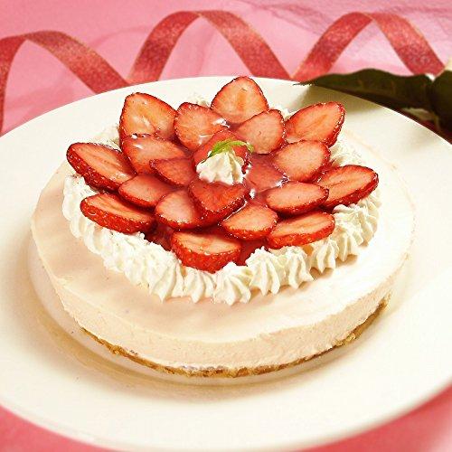 誕生日ケーキ 季節のフルーツレアチーズケーキ(苺)(ローソク・誕生日プレート付)(いちご イチゴ フルーツケーキ スイーツ バースデー ギフト