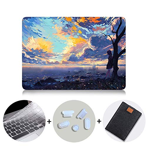 Funda para portátil MacBook Air Pro Retina 11 12 13 15 16 pulgadas con barra táctil de dibujos animados anime cubierta de 13.3 pulgadas para portátil