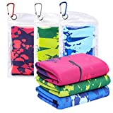 CHRUNONE Cooling Towel for Neck, Cooling Towels for Instant Cooling Relief 39' x 12' for Yoga, Sport, Running, Gym, Workout, Camping, Fitness (3pcs)