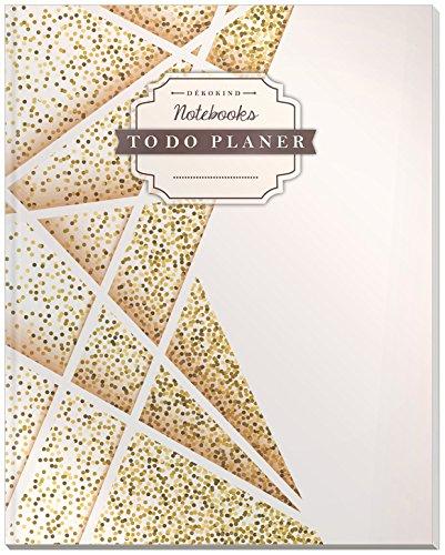 DÉKOKIND To Do Planer   DIN A4, 100+ Seiten, Register, Vintage Softcover   Dickes Checklisten Buch   Motiv: Futuristisch