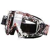 Gafas de protección para la nieve, cortavientos, motocross, todoterreno, todoterreno, para correr, gafas de esquí (color8)