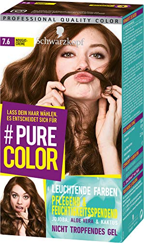 SCHWARZKOPF #PURE COLOR Coloration 7.6 Nougatcreme Stufe 3, 1er Pack (1 x 143 ml)