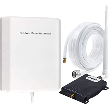 Home Cell Phone Signal Booster AT&T T-Mobile Verizon Straight Talk U.S. Cellular Signal Booster Amplifier Band 5 850Mhz GSM 2G 3G 4G Cell Phone Booster Improve Voice & Data Speed (Black)