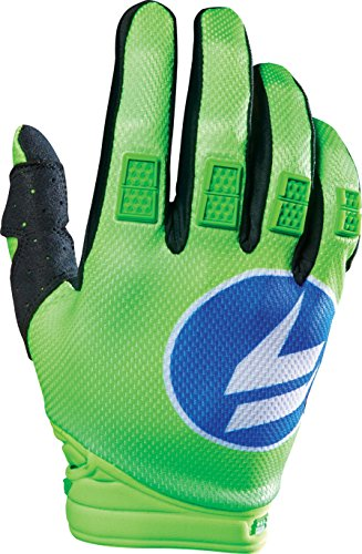 Shift Racing Strike Men's Off-Road Motorcycle Gloves - Blue/Green/Large