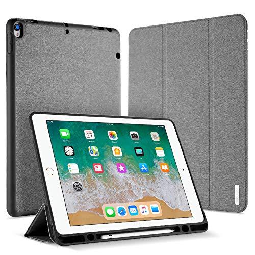 YYLKKB para iPad Pro 12.9 Funda para Tableta con Ranura para bolígrafo Funda de Cuero anticaída Smart Sleep-Wisdom Black/iPad Pro 12.9 (2017)