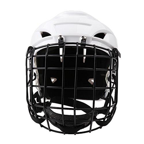 SM SunniMix Einstellbare Eishockey Helm & Gesichtsmaske Für Männer & Frauen Weiß - M