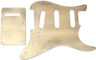 Healifty guitarra de golpeador hh placa de recogida de metal golpeador cero para guitarra eléctrica st guardabarros (bronce)