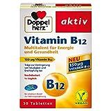 Doppelherz Vitamin B12 Tabletten – Nahrungsergänzungsmittel bei erhöhtem Bedarf –