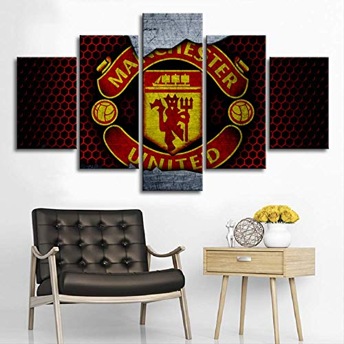 Man United FC Insignia-inglés Club Fútbol Arte Foto Poster//Lienzo Fotos