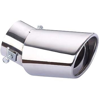 Leslaur Tubo di Scarico in Acciaio Universale Tubo di Scarico in Acciaio per Auto Tubo di Scarico in Acciaio Universale Accessorio per Il rimontaggio Automatico