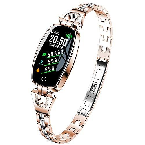 DAETNG Activity Tracker Fitness-Armband, Sport Running Calorie Sleep Watch, Farbdisplay Blutdruck Herz-Handgelenk-Monitor, Schrittzähler IP67 wasserdicht für Android IOS,Gold