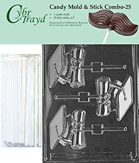 Cybrtrayd 45St25-M069 Cap & Diploma Lolly Chocolate Candy Mold with 25 Cybrtrayd 4.5