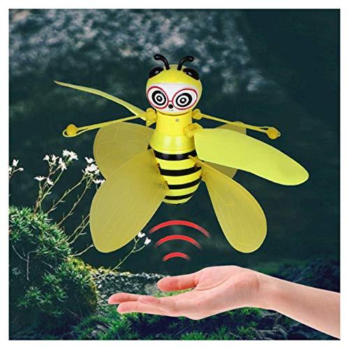 LJHLJH Pequeña Abeja zángano Gesto Sensor Eje Cuatro Aviones Sensor con la Linterna Fresco para los niños
