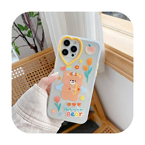 Cartoon Bear Cute Rabbit Phone Cases For iphone 12 Pro Max Mini 11 Pro XR XS Max X 7 8 Plus Soft TPU Lovely Animal Back Cover-Style 01-For iPhone 11 Pro