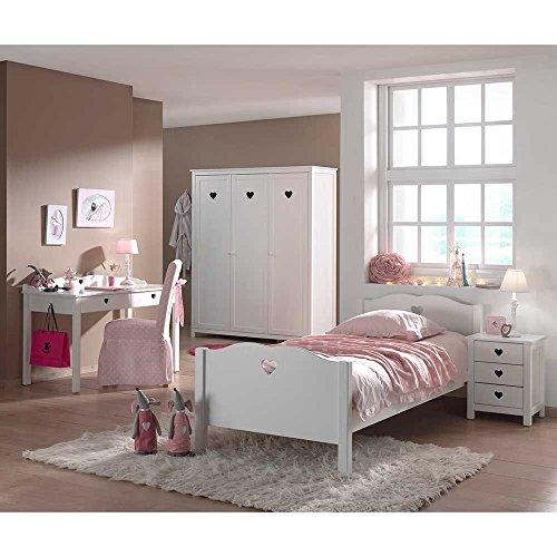 Pharao24 Jugendzimmermöbel Set für Mädchen Weiß