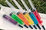 Jello Shot Syringes 50 Pack Easy-to-Clean Syringes for Halloween, BPA Free Syringe Jello Shots with Oversized Caps for Holiday, Birthday or Graduation Parties - Jello Shot Syringes 1.5 oz by EZ-Inject Medium