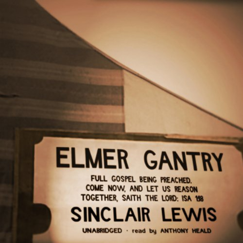Elmer Gantry audiobook cover art